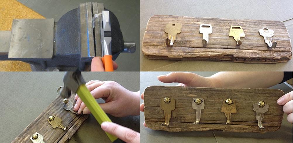 Colgador llaves en 4 pasos