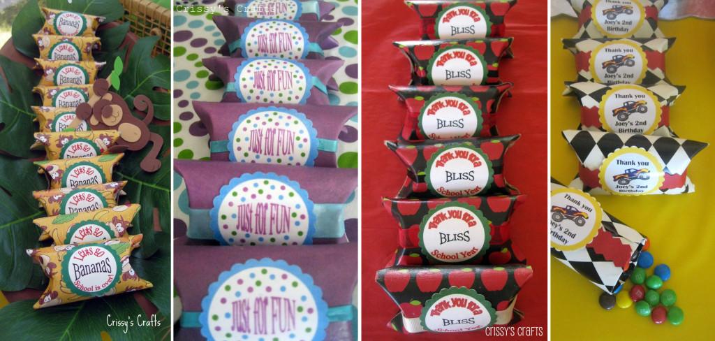 Decoración cajas para fiestas creadas por Crissy