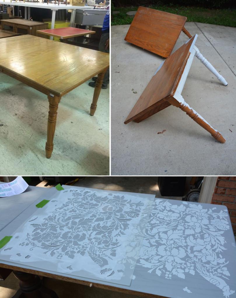 Proceso cortar mesa madera