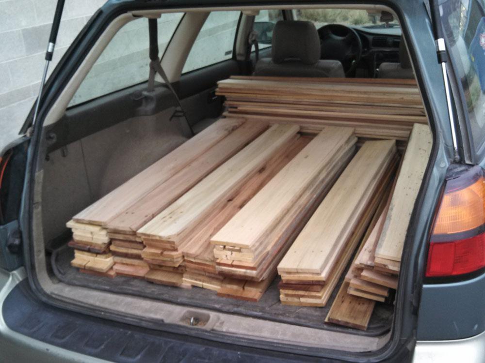 Suelo de parquet con madera de palé - Decoración - Upcycle.es